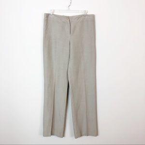 Armani Collezioni Linen and Silk Wide Leg Trousers